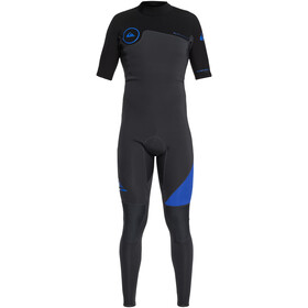 Quiksilver 2/2mm Syncro Series SS Back Zip FLT Springsuit Men, graphite/black/deep cyanine